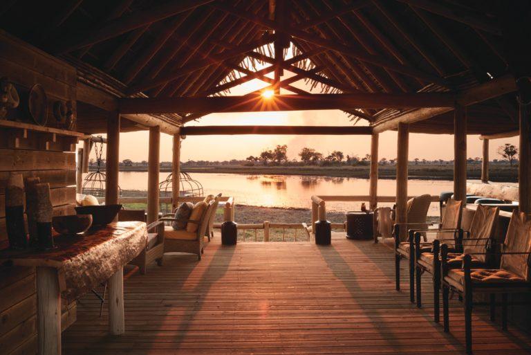 Eagle Island Lodge main deck area with vista