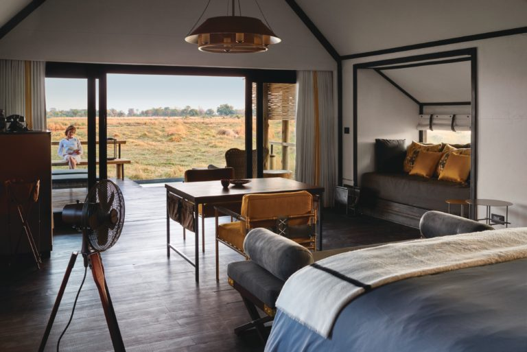 Eagle Island Lodge rooms overlooking panoramic Delta
