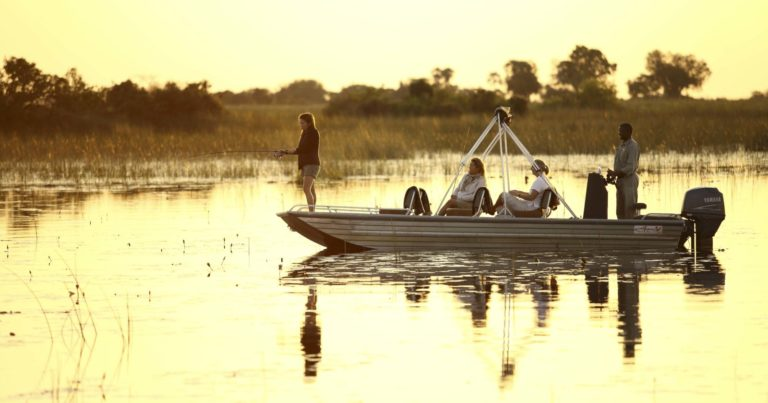 Boating activities at Nxabega are seasonal and water level dependent