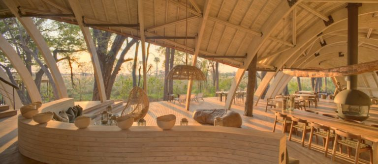 Modern organic architecture inspires the main guests areas at Sandibe