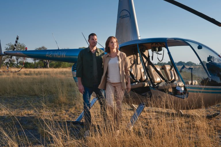 Enjoy aerial safaris by helicopter on Eagle Island