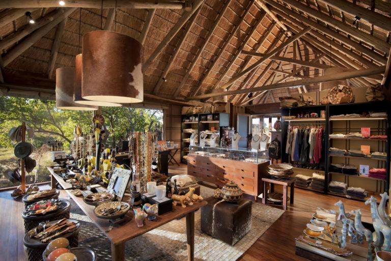 The curio shop at Nxabega showcases African themed keepsakes