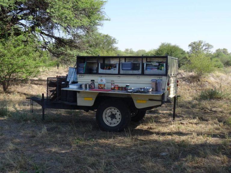 Bush Ways makes use of a mobile kitchen on safari