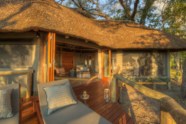Exterior view of guest room at Camp Moremi