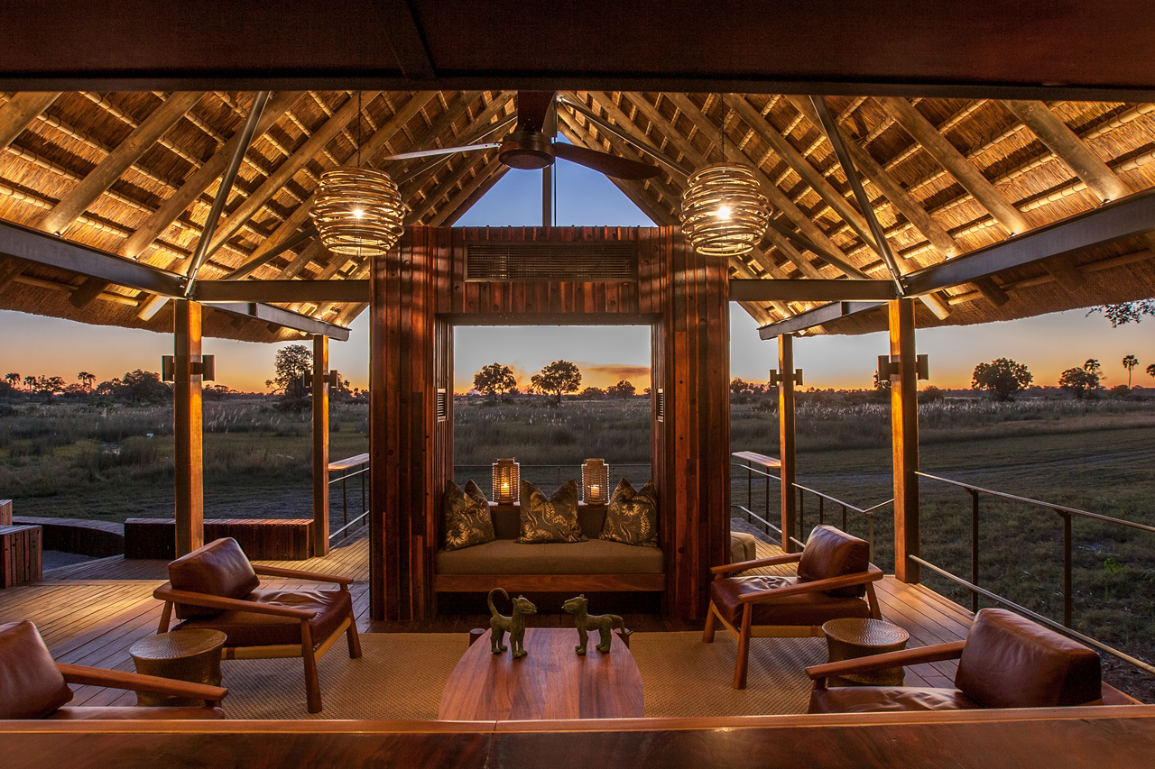 Chitabe's main area boasts magnificent views through huge windows