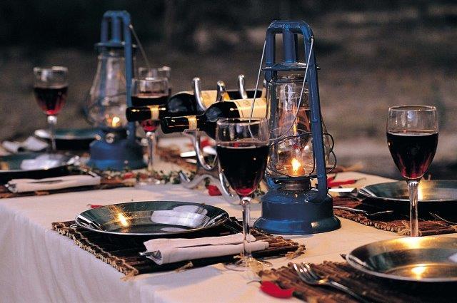 Dinner on a Letaka Safari is a lantern -lit bush affair