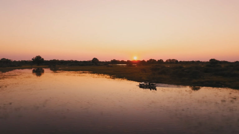 Gorgeous sunset skies at Chief's Camp are a highlight of any delta Safari