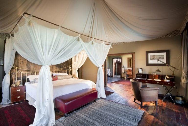 Duba Plains' opulent tents boast magnificent interior decor