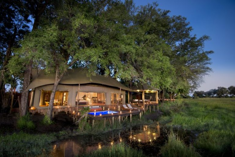Private pool view from Delta at Duba Plains