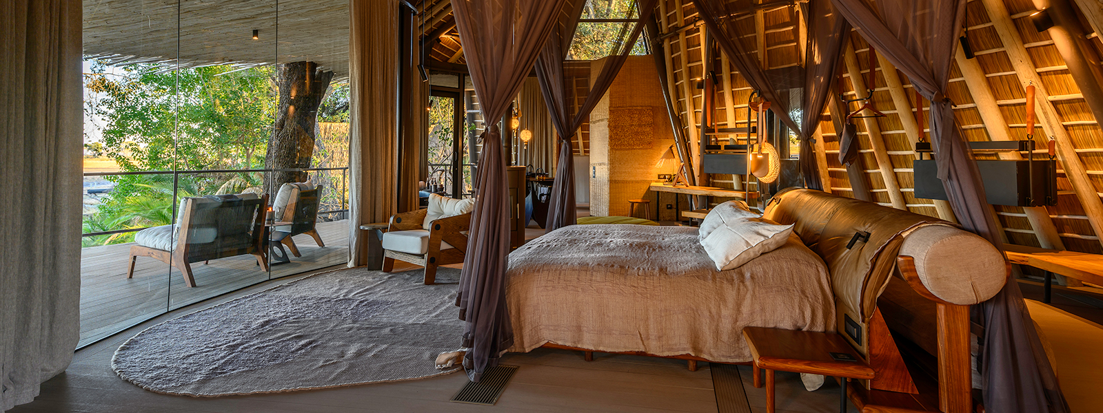 Jao Camp guest rooms boast private plunge pools as well as inside and outside showers