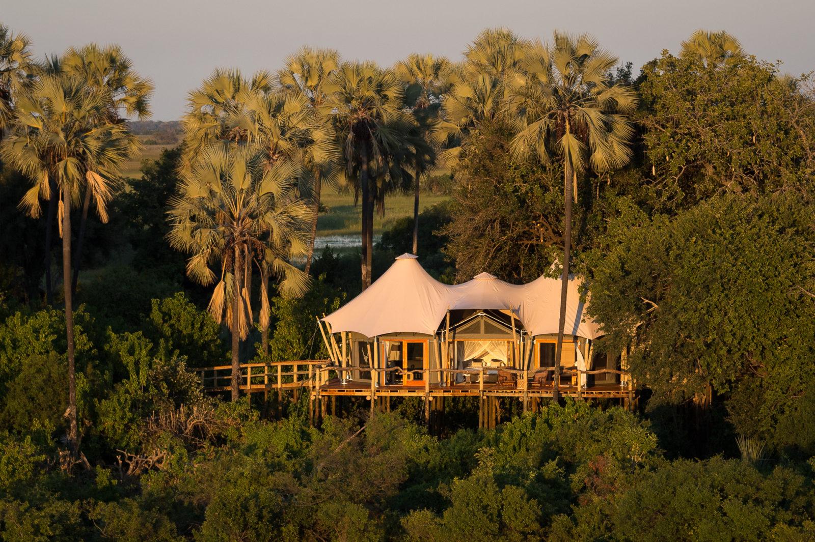 Aerial view of Kwetsani luxury camp
