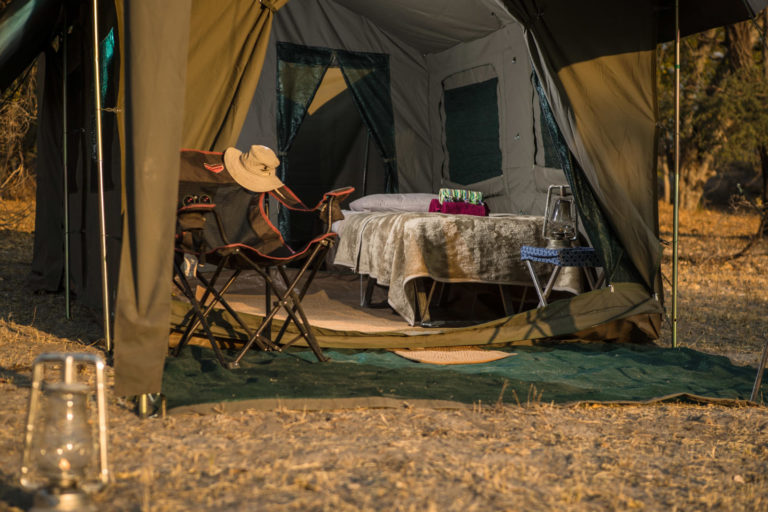 Guest tent on fully serviced Letaka Safari