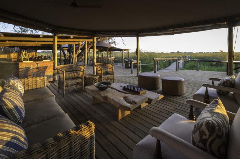 Delta view from Little Vumbura's outdoor lounge