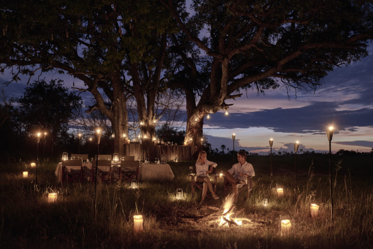 A bush dinner at Sanctuary Baines' Camp creates unforgettable memories for guests