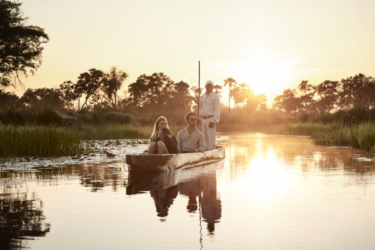 Traditional mokoro excursions from Baines Camp will explore various channels and waterways of the Delta in search of wildlife