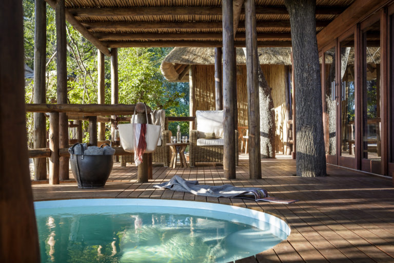 Guests relish in having their own private plunge pools at Chief's camp
