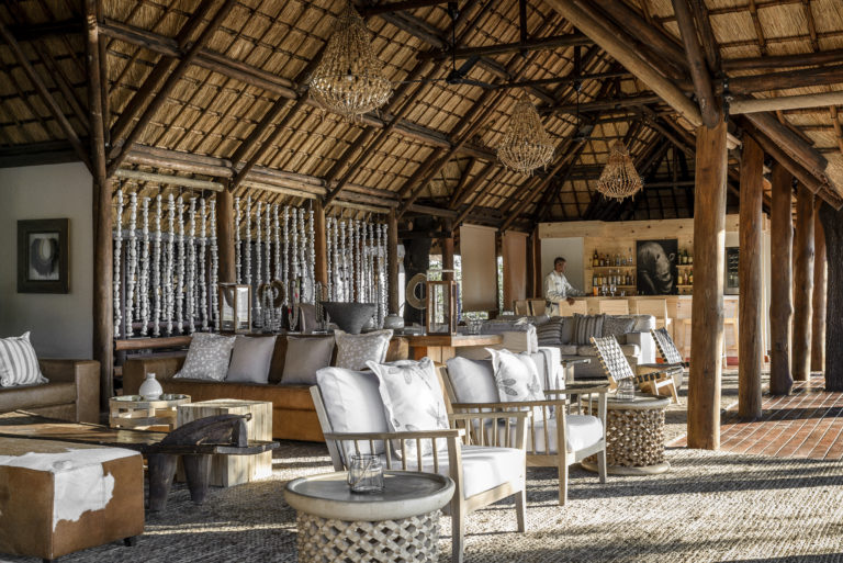 Sanctuary Chief Camp's refurbished and safari chic styled main area is attractive