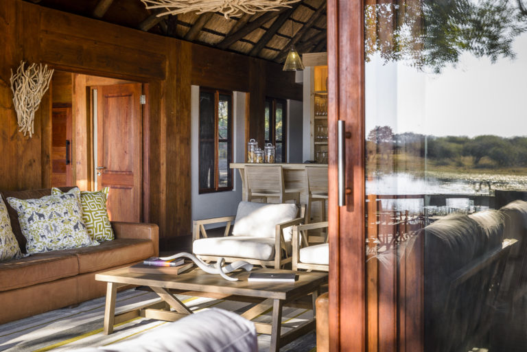 View into Geoffrey Kent Luxury Suite at Chief's Camp