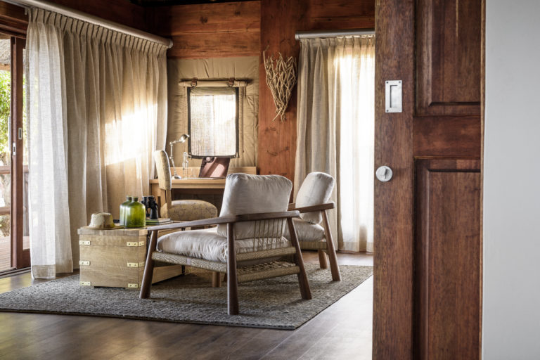 Sanctuary Chief's Camp- guest suite with writing desk