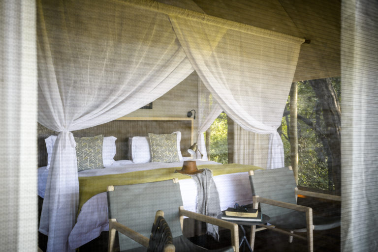 Stanley Camp's luxurious tent interiors are spacious and light