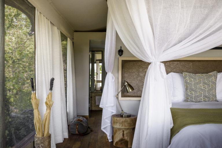 Stanley's Camp guest tents boast classic luxury safari style decor
