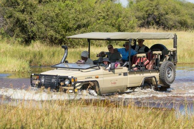 Letaka safari vehicles are adapted to navigate all types of terrain