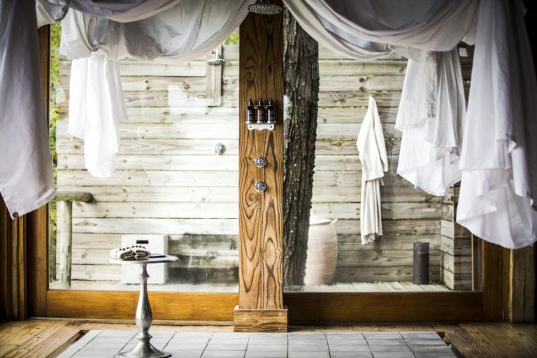 Interior decor details at Vumbura Plains Camp