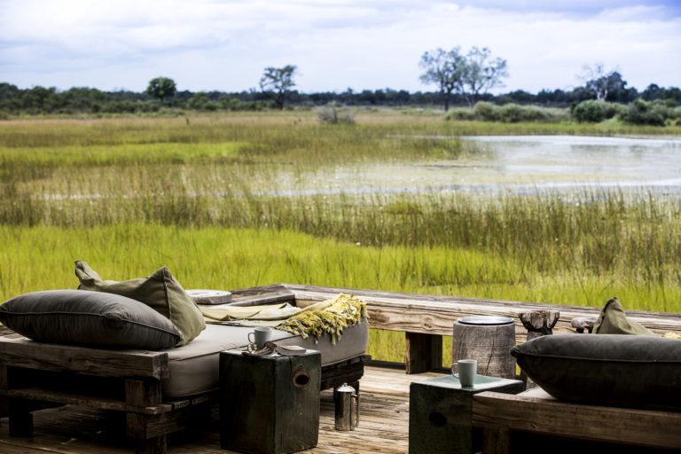 Vumbura Plains Camp is in a very scenic area of the Okavango Delta