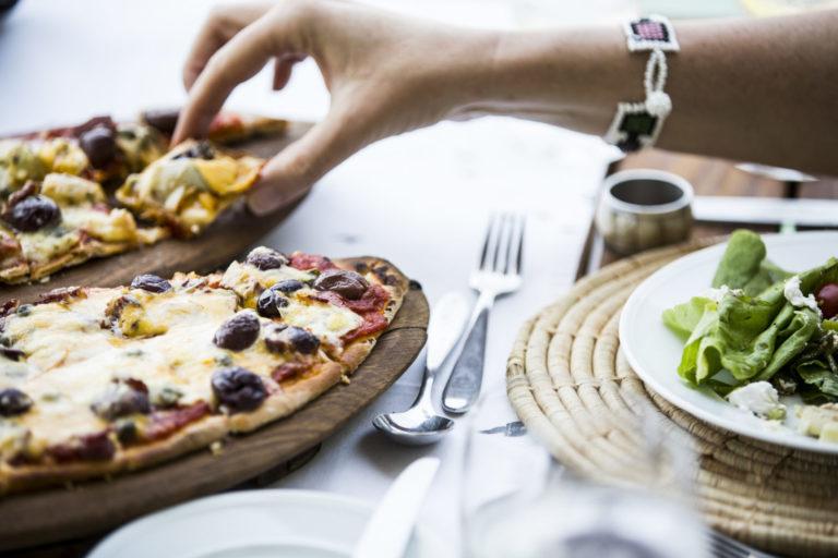 Abu Camp boasts its own pizza making oven