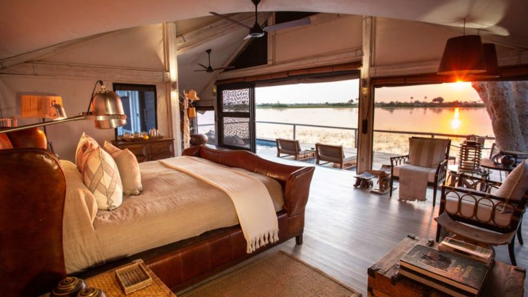 Guest suites at Abu camp have amazing views over the wilderness landscape
