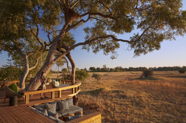 Tuludi Camp is located in the Khwai concession with vast plains' views