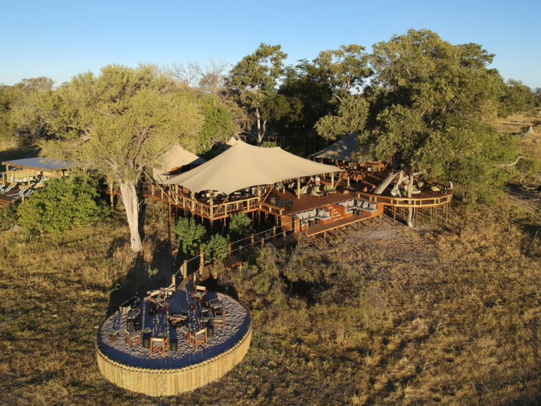 Tuludi camp setting as viewed from the air