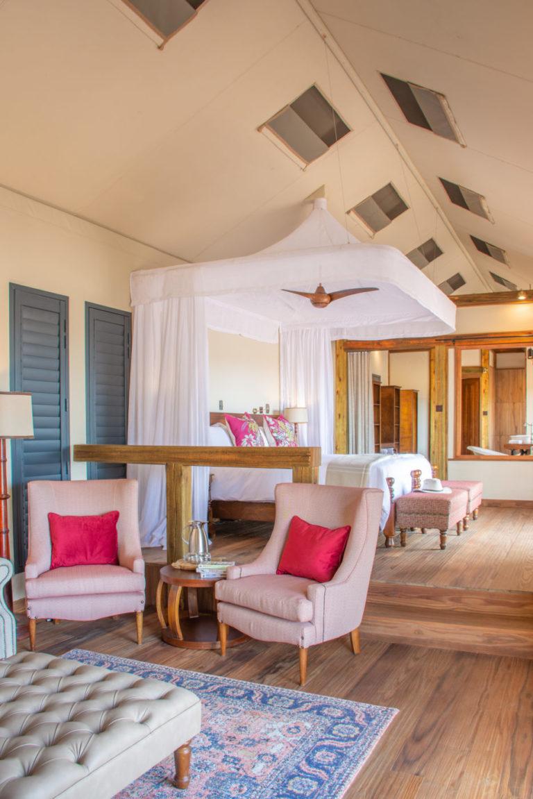 Contemporary design of Kwara's lounge area
