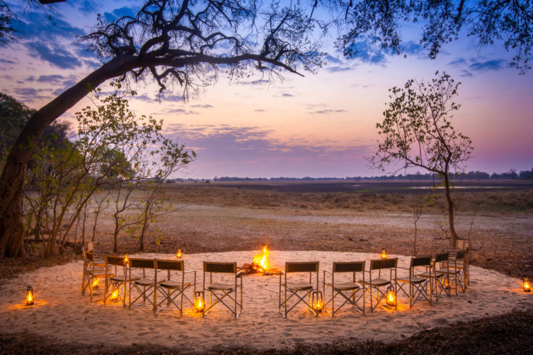 The magnificent panoramic view from the Kwara Camp's fire pit