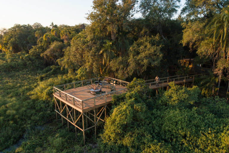 Setari Camp boasts extended wooden decks that overlook the gorgeous wilderness area