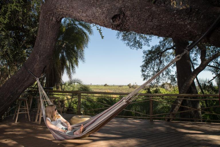 Setari Camp's hammocks provide rest for body and soul