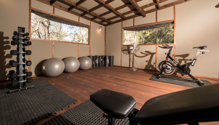 Setari Camp has a well equipped gym facility for fitness lovers