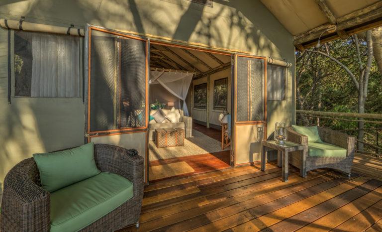 Setari Camp guest tent private deck