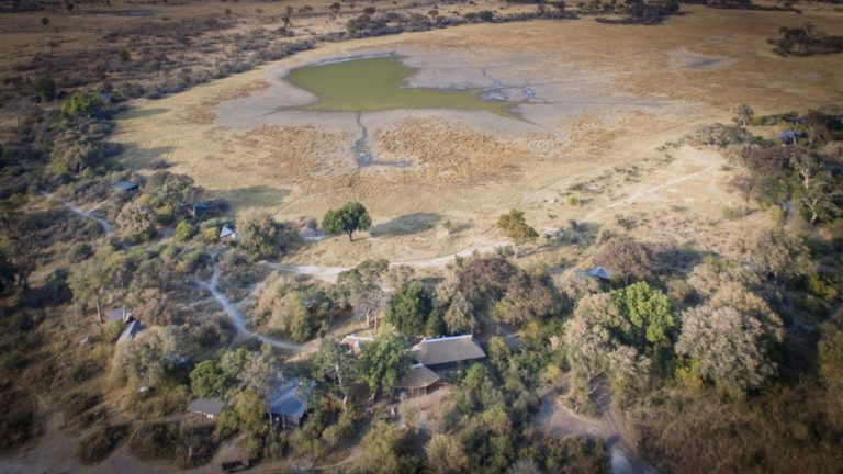 The pan surrounding Splash Camp attracts plentiful game