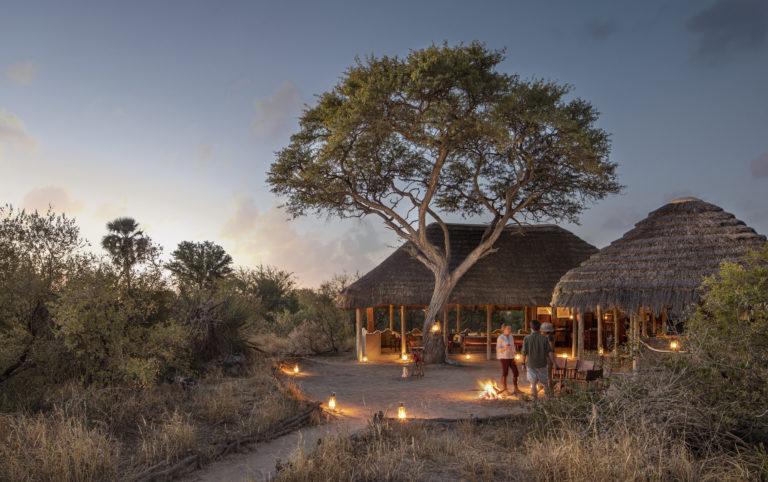 Picturesque scene of Camp Kalahari at night