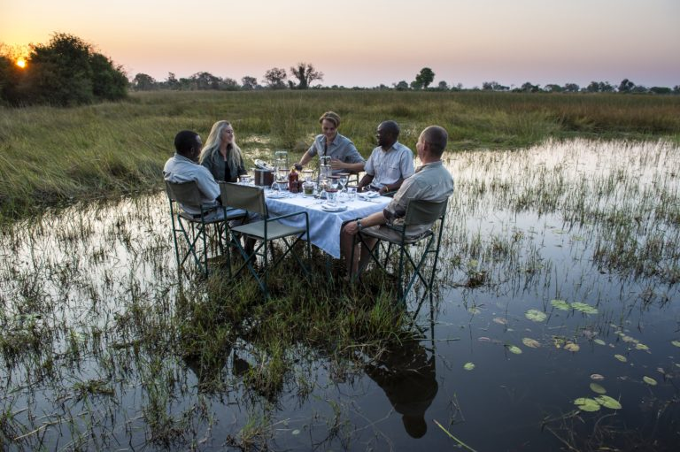 Okavango Mobile Expeditions dining with a difference