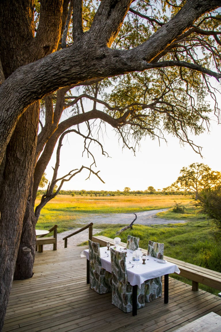 Surrounding view from dining table at Little Sable Camp