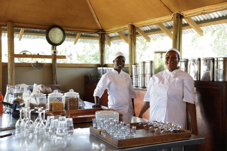 There is much activity behind the scenes at Camp Kalahari