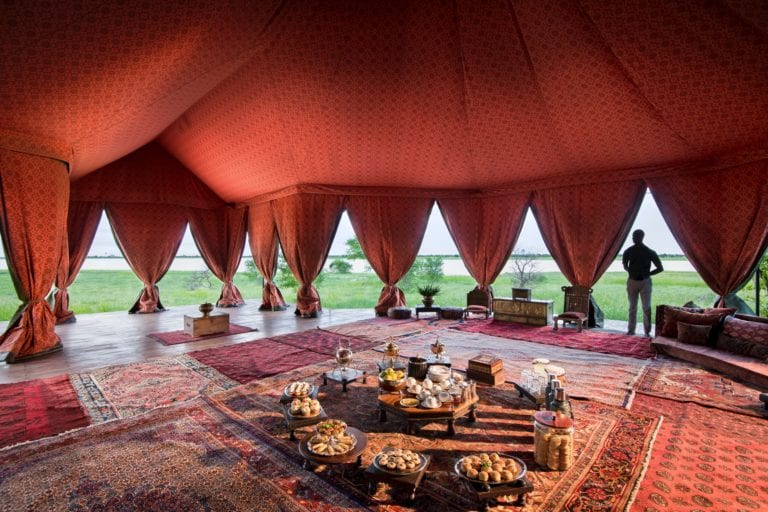Bedouin style high tea at Jack's Camp