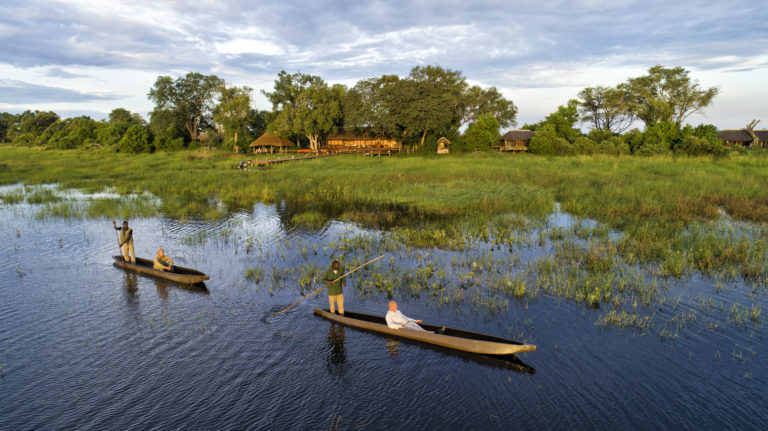 Mokoro excursions at Mapula are popular with guest