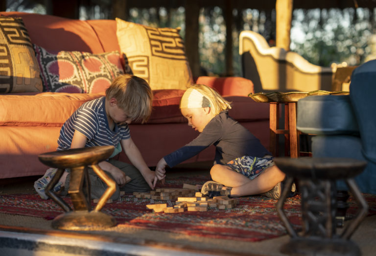There is a variety of childrens' activities available at Camp Kalahari