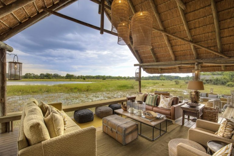 Lounge area with open African skies at Sable Alley
