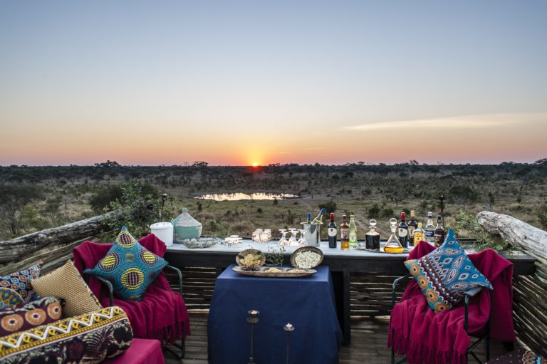 Sundowners with an incredible view courtesy of Skybeds
