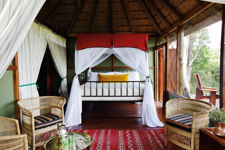 Mapula Lodge double chalet bedroom interior decor