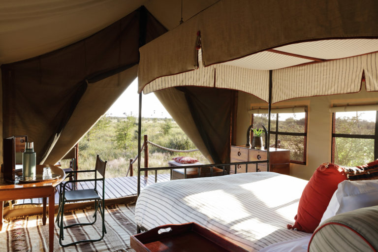 There are only twelve Meru style tents at Camp Kalahari